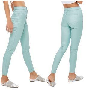 NWT TopShop Joni High Waisted Shimmer Skinny Jeans